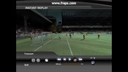 Невероятно красив гол на Rooney - Fifa 07