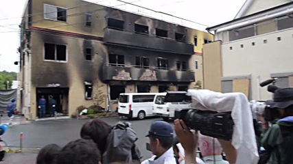 Japan: Journalists swarm around anime studio after deadly arson attack