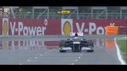 F1 Гран при на Канада 2012 - Maldonado изпуска контрола над болида си и се блъска [hd]