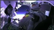Феликс Баумгартнер с исторически скок от стратосферата [36км височина] [14-10-12] Дълга версия