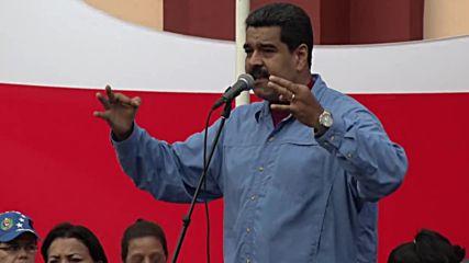 Venezuela: Hundreds of women rally against opposition violence in Caracas