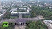 Дрон засне многохилядния протест в Молдова