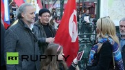 France: Protesters show support for Russia and Assad at Paris march