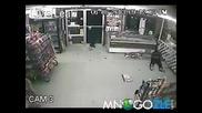 Хлъзгава засада за крадци в магазин