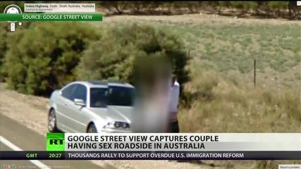 Google Street View засне странна сцена