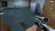 Луд играе срещу 20 бота на Expert на Counter Strike:source
