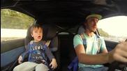 Дрифтове с малко дете вижте реакцията му смях !