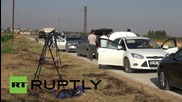 Turkey: Smoke rises over Syrian border after Turkish army strike IS militants