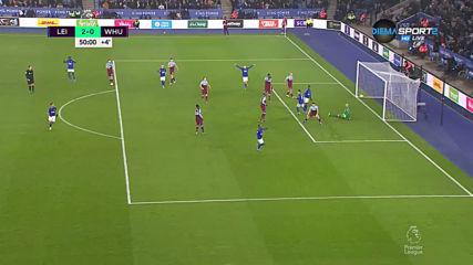 Лестър добави и втори гол в актива си срещу Уест Хем