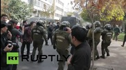 Chile: Violent arrests made as clashes erupt at Santiago teachers strike