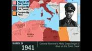 Втора Световна Война 1939 - 1945 Карта