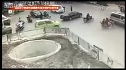 Най-тъпият моторист в Китай!