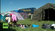 Croatia: Refugees' tents blown away as Bregana border crossing remains shut