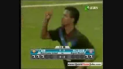 Nani amazing penalty goal against bayern m