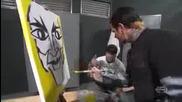 Tna impact 04/01/2010 Джеф рисува