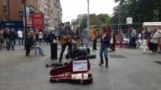 Sam Brittain and Meg Lagrande perform 9 Crimes in Dublin