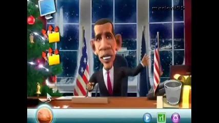 [смях] Барак Обама говори руски!! Пародия!!