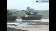 Танкове Т-90 танцуват на полигона в Раменск Т 90
