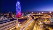 Среднощна Барселона - 1080p Hd Timelapse