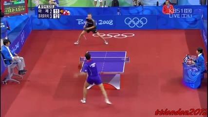 Ето така се играе тенис на маса