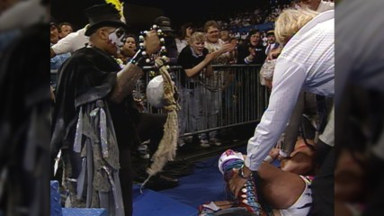 Papa Shango puts a curse on Ultimate Warrior: Superstars, May 16, 1992 (WWE Network Exclusive)