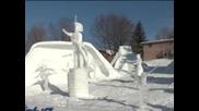 Ваканционни места вдъхновиха най-добрите творби на конкурс за скулптури от сняг