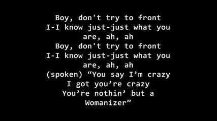 Britney Spears - Womanizer {текст}