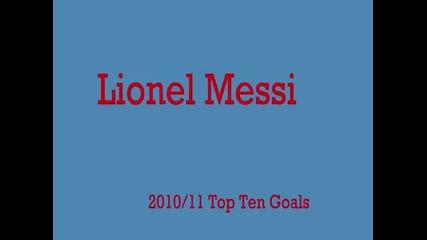 Lionel Messi - Top 10 Goals - 2011-2012 Season