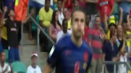 Робин Ван Перси поразителен гол срещу Испания 13.06.14
