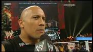 Превод Wwe Raw 2.14.2011 Скалата се завръща Part 1 (hq)