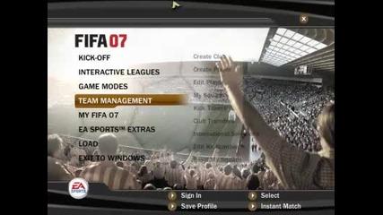 Fifa 07 | Започва се !! Изберете отбор ..