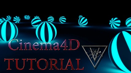 Светещи 3d топки Cinema4d + Photoshop Cc
