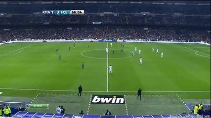 R. Madrid - Barcelona 1:3 Goal Fabregas