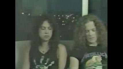 Интервю С Metallica 1988(monsters Of Rock)