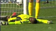 Вратар изпадна в безсъзнание, след като удари главата си в греда