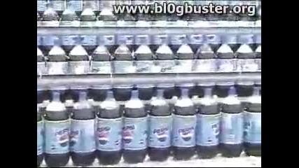 Кола + Ментос - ебаси фонтана от 250 бутилки кола и 1000 бонбони ментос