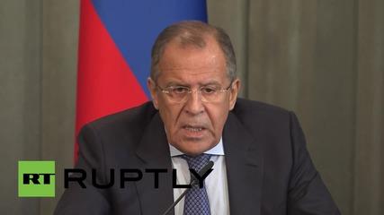 "Russia: Free Syrian Army a ""phantom structure"" - Lavrov"