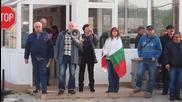 """400 души от """"ТЕРЕМ"""" блокираха пътя Варна – Белослав"""