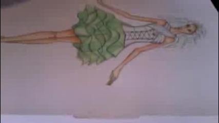 рисуване на рокля