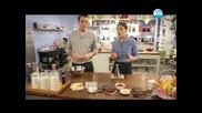 Руло от свинско с винен сос, кускус, шоколадови трюфели, портокалови трюфели - Бон Апети(14.02.2013)
