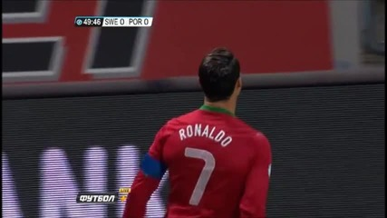 Феноменалното представяне на Роналдо срещу Швеция