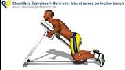 Бодибилдинг упражнения - Разтваряне за задно рамо от лег