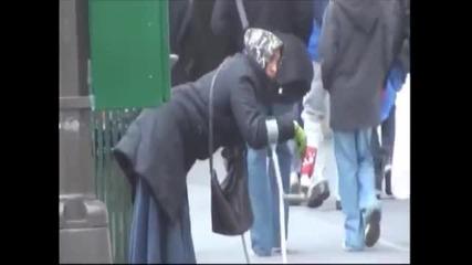Фалшива просякиня се представя за инвалид