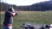Стрелба с Калико, 9mm