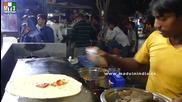 Бърза Храна на улицата .. Dosa With Masala Chutney - Kamoti - Mumbai Street Food
