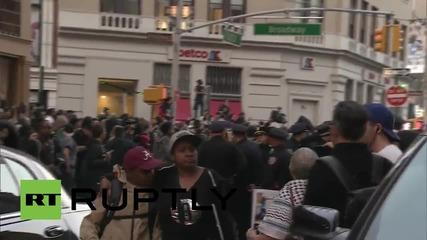 Протестиращи за Фреди Грей арестувани в Ню Йорк