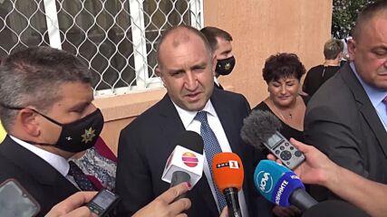 Румен Радев: Готов съм със състава на новия служебен кабинет