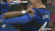 С Бербатов в състава си, Юнайтед направи равен със Стоук Сити