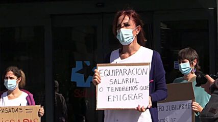 Spain: Madrid nurses protest to demand better working conditions