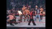 Kurt Angle Brawls with Immortal